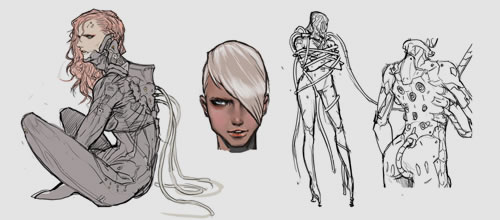 Quelques artworks de Mistral dans Metal Gear Rising Revengeance